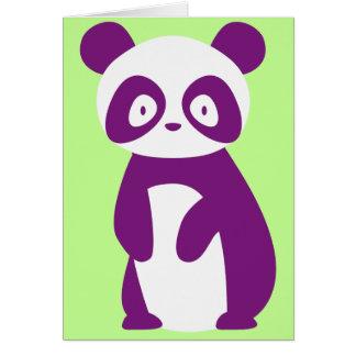 Lila Panda-Gruß-Karte Karte