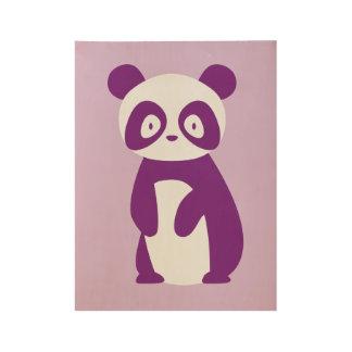 Lila Panda-Plakat Holzposter