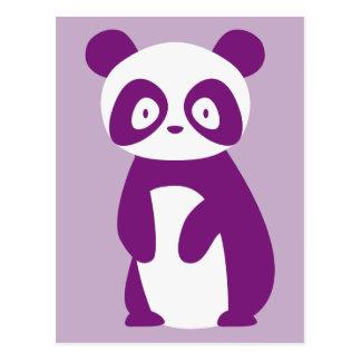 Lila Panda-Postkarte Postkarte