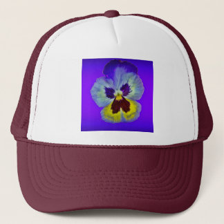 Lila Pansy-Amethyst farbige Geschenke durch Truckerkappe