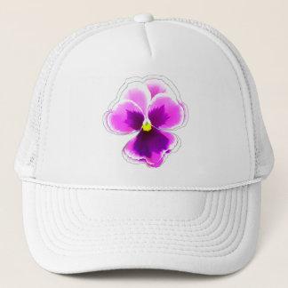 Lila Pansy-Blume auf Editable Truckerkappe