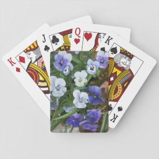 Lila Pansy-Blumenspielkarte-Gärtner-Geschenk Spielkarten