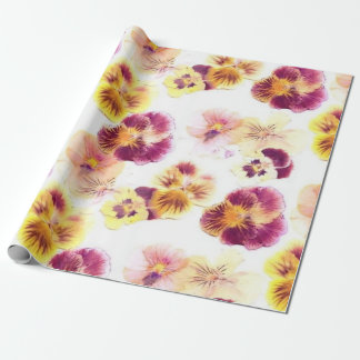 Lila Pansy Einpackpapier