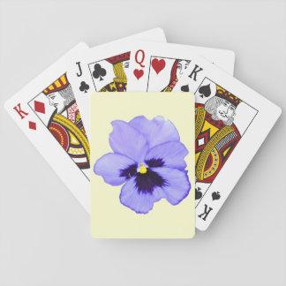 Lila Pansy Spielkarten