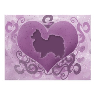 Lila Papillon Valentine Postkarte