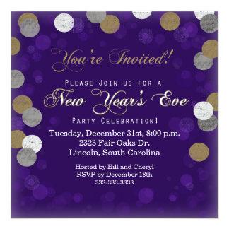 Lila Party Einladung des Sylvesterabends