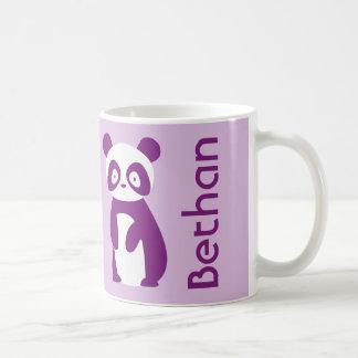 Lila personalisierte Tasse des Panda-(irgendein