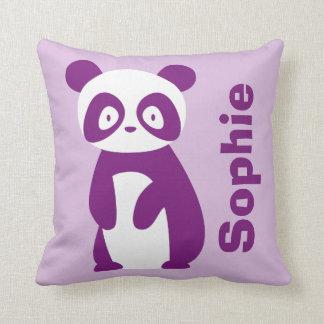 Lila personalisiertes Kissen des Panda-(irgendein