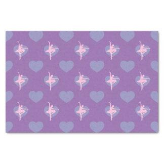 Lila, Pervinca und rosa Ballerina Seidenpapier