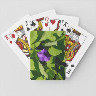 Lila Petunie-Spielkarten Pokerkarte