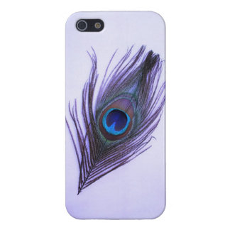 Lila Pfau-Feder iPhone 5 Savvy glatter Fall iPhone 5 Cover
