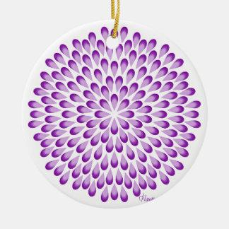 Lila PfauMandala Rundes Keramik Ornament