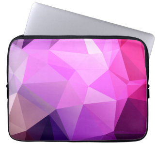 Lila polygonaler Entwurf Laptop Schutzhülle