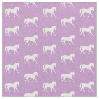Lila Pony-Gewebe, hellpurpurnes Pferdegewebe Stoff