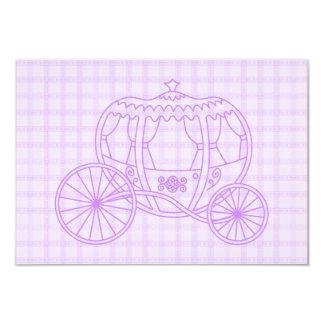 Lila Prinzessin Coach auf Karo-Muster 8,9 X 12,7 Cm Einladungskarte