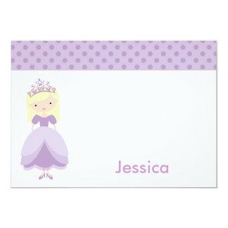 Lila Prinzessin Notecards 12,7 X 17,8 Cm Einladungskarte