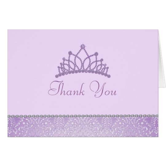 Lila Prinzessin Thank You Card Karte