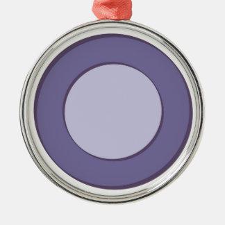 Lila Punkt Rundes Silberfarbenes Ornament