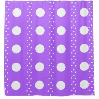 Lila Punkt-Streifen Duschvorhang