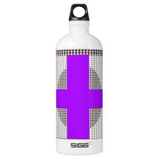 Lila Querschein-weiße Kristallperlen Wasserflasche