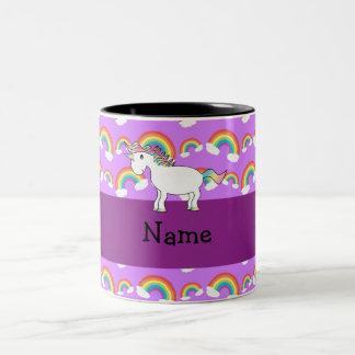 Lila Regenbogen personalisierten Namensregenbogen Tasse