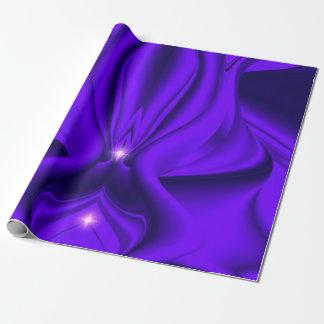Lila Regenbogen-Traum - zwei Sterne Geschenkpapierrolle