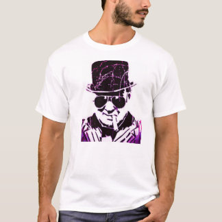 Lila retro Churchill T-Shirt
