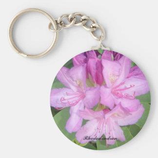 Lila Rhododendron Schlüsselanhänger