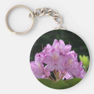 Lila Rhododendron Standard Runder Schlüsselanhänger
