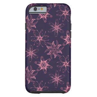 Lila rosa abstrakter iPhone Mitternachtsmit Tough iPhone 6 Hülle