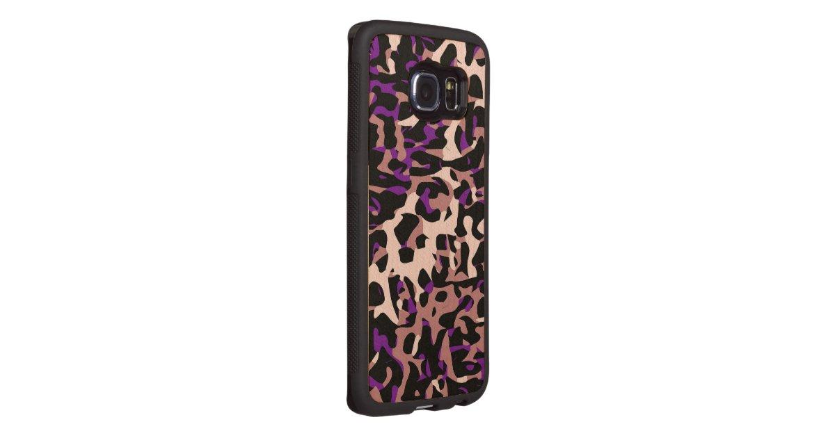 lila rosa cheetah abstrakt handyh lle aus holz. Black Bedroom Furniture Sets. Home Design Ideas