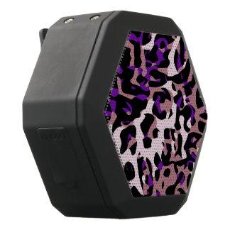 Lila rosa Cheetah abstrakt Schwarze Bluetooth Lautsprecher