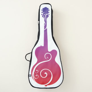 Lila rosa und orange Gitarren-Entwurf Gitarrentasche