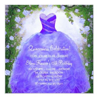 Lila Rosen lila Quinceanera Einladungen
