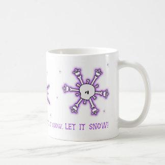 Lila Schädel und Knochen-Schneeflocke-Tasse Kaffeetasse