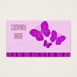 Lila Schmetterlings-Geschäfts-Karte Visitenkarte
