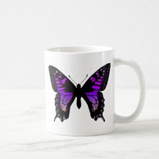 Lila Schmetterlings-Kaffeetasse Kaffeetasse