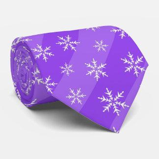 Lila Schneeflocke-Streifen-WeihnachtsKrawatte Individuelle Krawatten