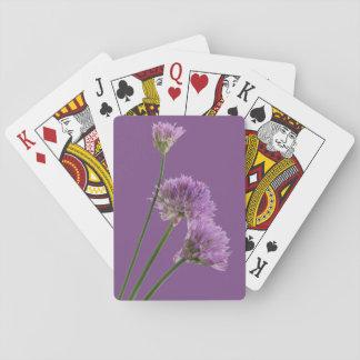 lila Schnittlauche in der Blüte Spielkarten