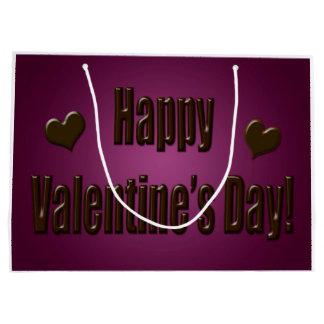 Lila Schokoladeglücklicher Valentine Große Geschenktüte