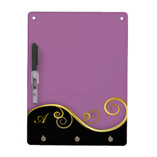 Lila-schwarzer Strudel mit Initiale Memo Boards