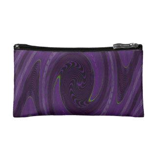 lila schwarzes kreisförmigesabstraktes Makeup-Tasche