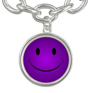 Lila smiley armband