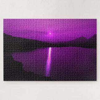 Lila Sonnenaufgang in BSP-Puzzlespiel