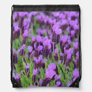 Lila spanische Lavendel-Blume Sportbeutel