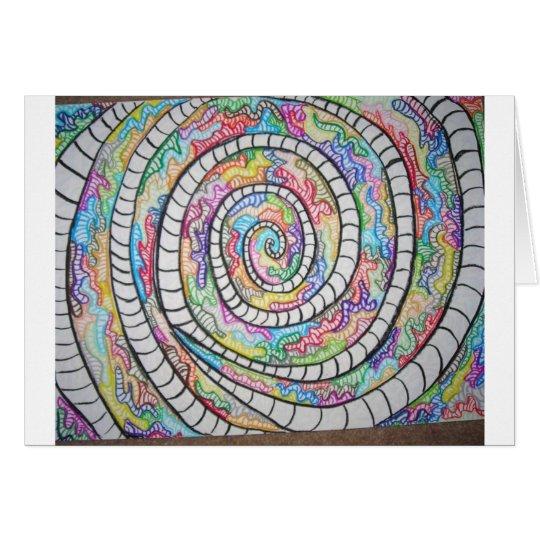 Lila Spirale Grußkarte