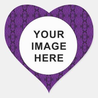 Lila Spitze-Herz-Aufkleber Herz-Aufkleber