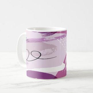 Lila Splotches-abstrakte Kaffee-Tasse Tasse