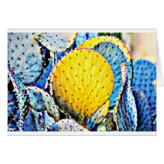 Lila stachelige Birne Karte
