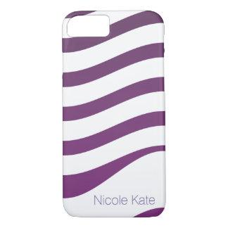 lila Steigung stripes Monogramm iPhone 7 Hülle
